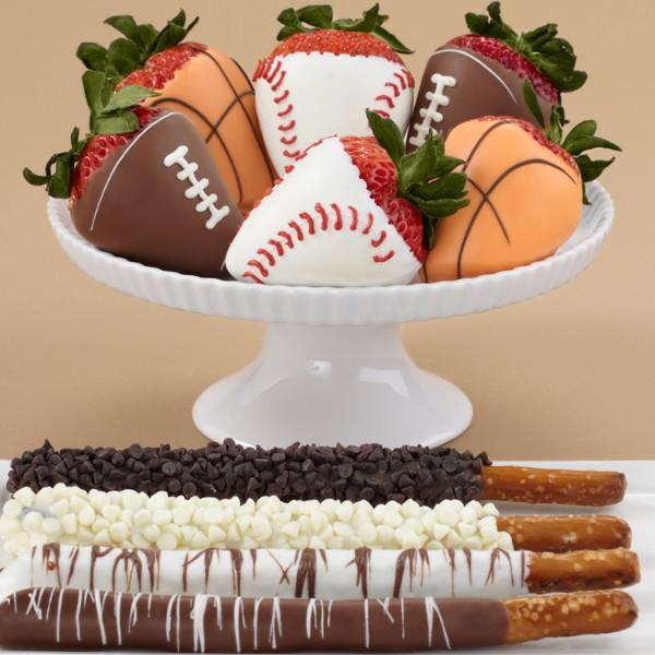 Caramel Pretzels & Half Dozen Sports Strawberries