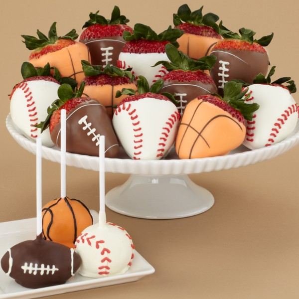 Sports Cake Pops & Full Dozen Sports Strawberries and other ...