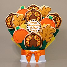 Thanksgiving Cookie Bouquet- 12 Piece