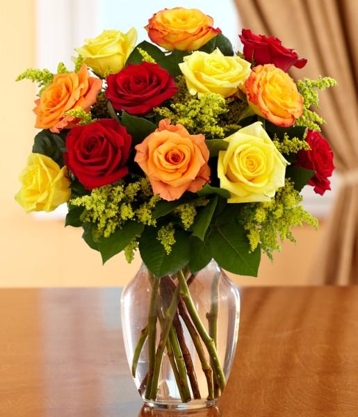 One Dozen Autumn Roses